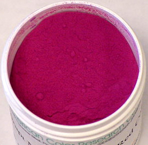 purple red color powder